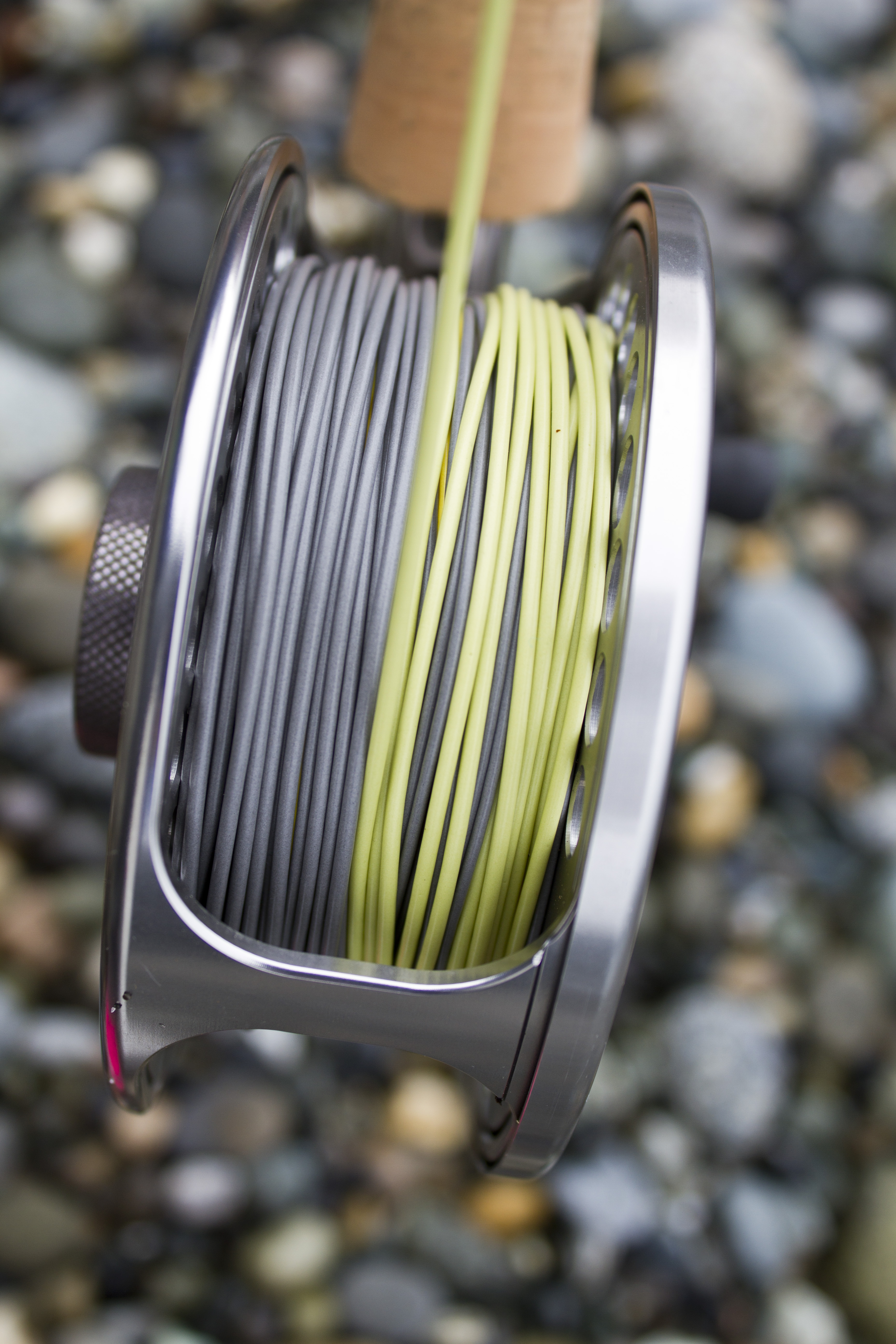 The Okuma Helios holds up to 250 yards of line in the 8wt model.
